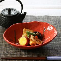 楕円皿 和食器 ゆず赤とばし 変形皿シリーズ 美濃焼 日本製 磁器