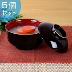 雑煮椀 540ml 日本製 溜渕金 5個セット ( 食洗機対応 )