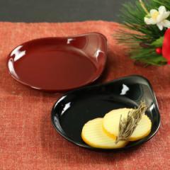 小皿 12cm クリーンコート加工 しずく型 食器 山中塗 日本製
