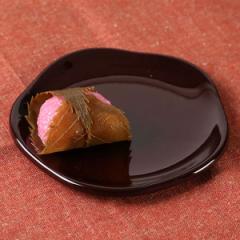 銘々皿 梅型 溜 漆器 和菓子 皿 食器 日本製