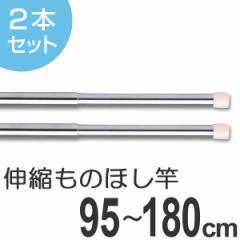 物干し竿 きらきらポール ミニ伸縮竿 0.95〜1.8m 2本セット
