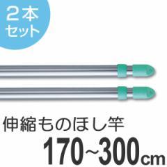 物干し竿 きらきらポール 伸縮竿 1.7〜3m 2本セット