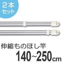 物干し竿 きらきらポール 伸縮ものほし竿 1.4〜2.5m 2本セット