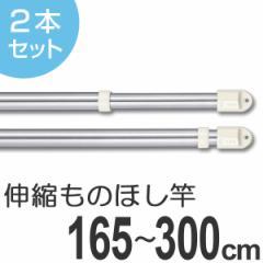 物干し竿 きらきらポール 伸縮ものほし竿 1.65〜3m 2本セット