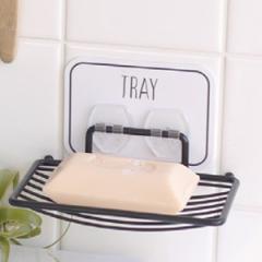ソープディッシュ 石鹸置き ソープトレー 水切りトレイ オテル フック 粘着フック 壁 粘着 貼ってはがせる