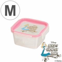 保存容器 不思議の国のアリス 正方形 M 460ml プラスチック製 ( ディズニー 角型 プラスチック容器 ふしぎの国のアリス Disney プ