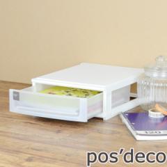 収納ケース ポスデコ A4サイズ 浅型1段 卓上