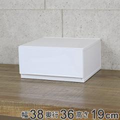 収納ケース 幅37×奥行35×高さ18cm コレクトケース Mワイド 1段 squ+