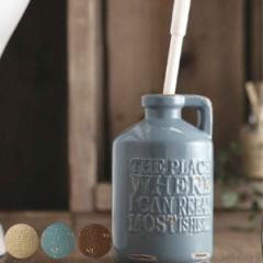 トイレブラシ 陶器 vintage ( クリーナー サニタリー )