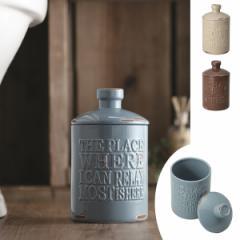 トイレポット 陶器 vintage ( コーナーポット 汚物入れ トイレ収納 )