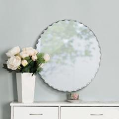 壁掛け 鏡 ウォールミラー ノンフレーム 円形 ( フレームなし )