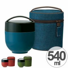 保温弁当箱 カフェ丼保温ランチジャー どんぶり型 専用バッグ付 和モダン 540ml 超軽量