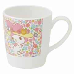 マグカップ マイメロディ フラワーハット メラミンマグカップ キャラクター ( カップ 食器 )