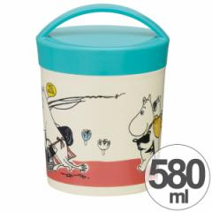 お弁当箱 カフェカップランチボックス ムーミン パレット 丸型 2段 580ml