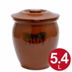 漬物容器 丸かめ 3号 5.4L 蓋付き 陶器