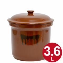 漬物容器 切立かめ 2号 3.6L 蓋付き 陶器