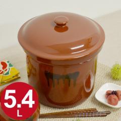 漬物容器 切立かめ 3号 5.4L 蓋付き 陶器