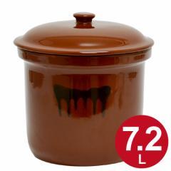 漬物容器 切立かめ 4号 7.2L 蓋付き 陶器 ( 漬け物容器 )