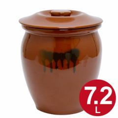 漬物容器 丸かめ 4号 7.2L 蓋付き 陶器 ( 漬け物容器 )