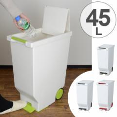 ゴミ箱 ふた付き スライドペダルペール 45L