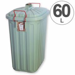 ゴミ箱 PALE×PAIL ペール×ペール 60L ブルーグレイ フタ付 屋外用