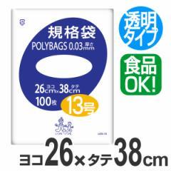 ポリ袋 規格袋 13号 100枚 透明