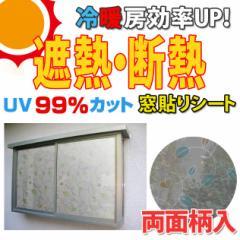 遮熱・断熱窓飾り 両面柄付 GCV-9270 92cm×90cm