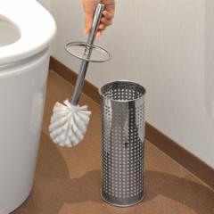 トイレブラシ ケース 水受け付き ステンレス メッシュ WALTZ ( おしゃれ 便器 衛生的 )