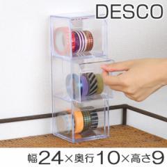 小物入れ 引き出し ミニ プラスチック クリア ミニ 卓上 透明 収納 3段 デスコシリーズ