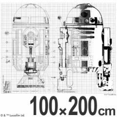 スターウォーズ カーテン 遮光 R2-D2LINE 100×200cm ( スミノエ )
