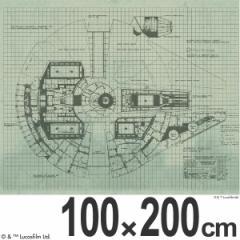 スターウォーズ カーテン 遮光 ミレニアムファルコン 100×200cm ( ドレープカーテン )