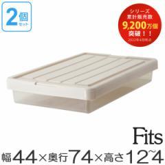 収納ケース Fits フィッツ フィッツケース スリムボックス74 フタ付き 2個セット