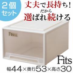 収納ケース Fits フィッツ フィッツケース フィッツケースクローゼット ワイド L-53 2個セット ( 衣装ケース )