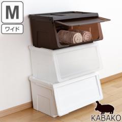 収納ボックス 前開き KABAKO 幅60×奥行42×高さ31cm カバコ ワイド M