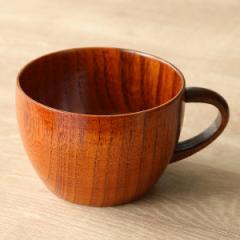 ティーカップ 240ml 木製 漆 マグカップ 天然木 食器