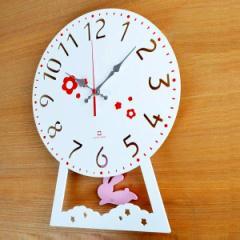 振り子時計 ヤマト工芸 yamato CHILD clock うさぎ ( 壁掛け時計 )