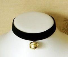 チョーカー 黒×金の鈴