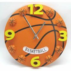 掛け時計 バスケットボール 直径30cm