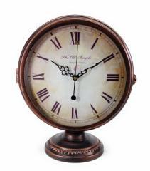 置時計 ヨーロピアンアンティーク風 ブロンズ ローマ数字 両面 (Bタイプ)