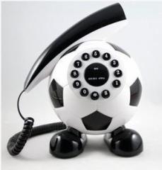 置物 電話機 電話器 サッカーボール ユニーク