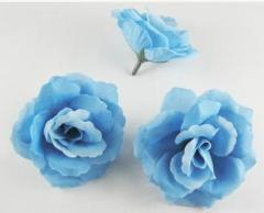 造花 バラ 花のみ 7.5センチ 50個 (ライトブルー)