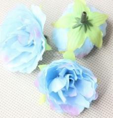 造花 バラ 花のみ 4センチ 50個 (ライトブルー)