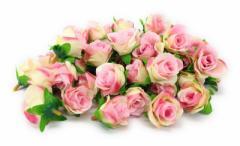 造花 バラ 花のみ 4センチ 50個 (ライトピンク)