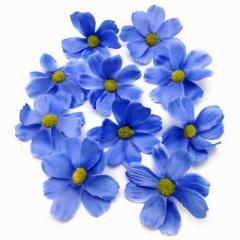 造花 コスモス 花のみ 7センチ 100個 (ブルー)