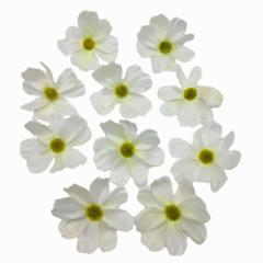 造花 コスモス 花のみ 7センチ 100個 (オフホワイト)