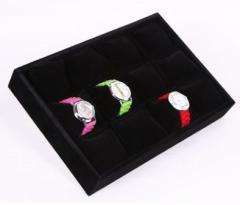 【お取り寄せ】腕時計ケース ブレスレットケース ラグジュアリー 12個収納 (ブラック)
