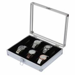 【お取り寄せ】腕時計ケース トランク風 シンプル アルミ製 (12個用)