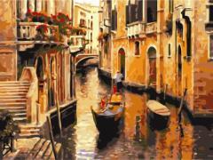 【お取り寄せ】塗り絵キット DIY 油絵セット 大人用 世界の風景 (ベネチア)