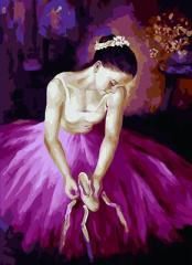 【お取り寄せ】塗り絵キット DIY 油絵セット 大人用 世界の名画 (バレリーナC)