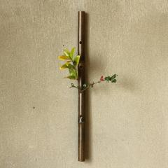 花器 一輪挿し 壁掛け用 天然 竹のふし 和モダン